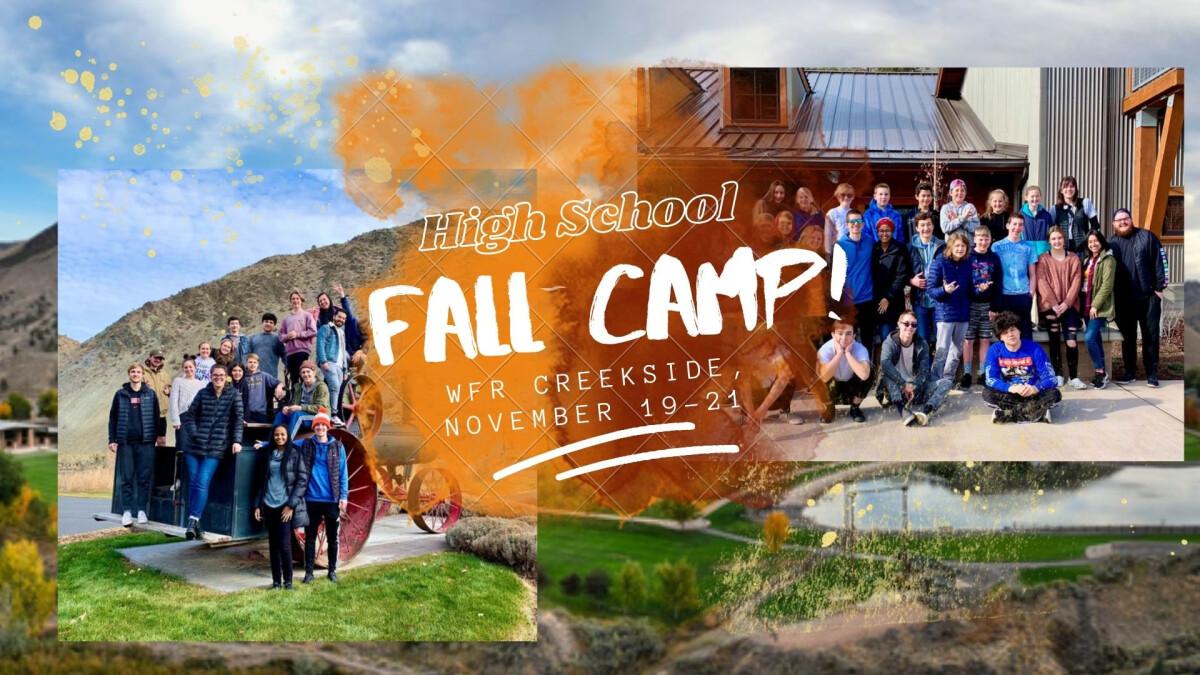 High School Fall Discipleship Camp